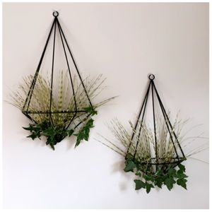 Other - Wall Sconce Hexagon Metal Air Plant Holder Set